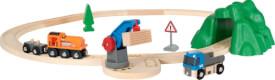 BRIO 63387800 Starterset Güterzug mit Kran, ab 3 Jahren, Holz