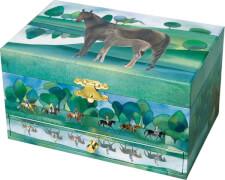 Schmuck Spieldose Pferd ''Normandie''©
