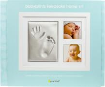 ''<br>Babyprints Erinnerungsrahmen für 2 Fotos und Hand- und Fußabdruck''